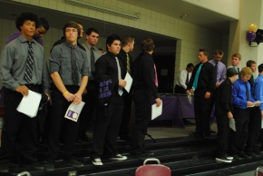 Photo of last semester's football sports banquet