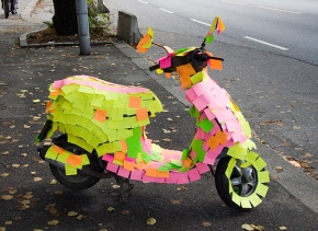 Scooter Sticky Note Prank