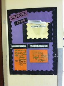Science Club Announcement Board