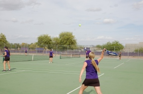 Lady Mustang's tennis team meets their match