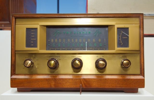 "Technology has come a long way since this radio from 1959.  ""Fisher 500 radio"" by Gregory F. Maxwell"