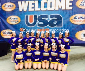 Varsity Cheer Team takes top three in nationals competition