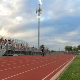 Students participate in track invitational
