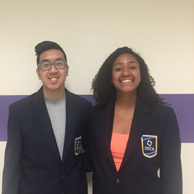 DECA students awarded for leadership roles