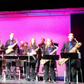 Jazz band performs their end of year concert